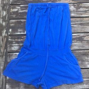 Forever 21 blue cotton romper